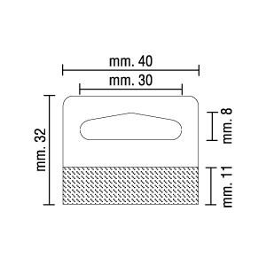 Crochets Adhésifs Transparent, 40mm x 32mm, 400 mic.  – Rouleau de 500 crochets