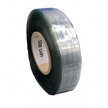 Transparent Adhesive Hangers, 40mm X 32mm, 400 Micron Thickness - Roll of 500 Hangers