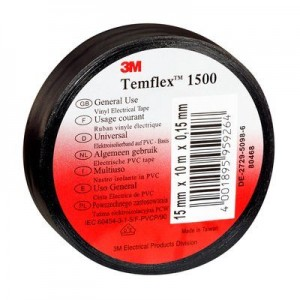 3M™ Fita Isolante de PVC TEMFLEX 1500 - Rolo de 20m x 19mm