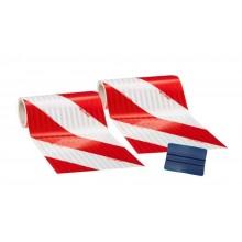 3M™ 3410 Microprismático Retrorrefletivo Classe RA2 Branco / Vermelho - Pacote de 2 rolos 141 mm x 9 m (1 esquerdo, 1 direito)