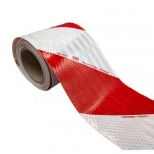 3M™ Feuille rétroréfléchissante microprismatique 3410 Classe RA2 Blanc/Rouge - Pack de 2 Rx 141mm x 9m (1 gauche, 1 droite)