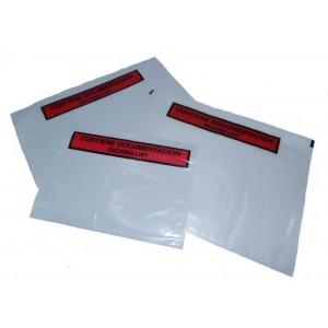 Envelopes Portadocumentos, Modelo F3, 240mm X 140mm, Cor Vermelho, Com Legenda