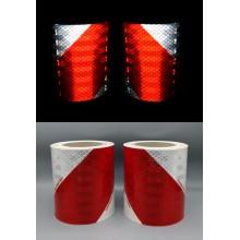 3M™ Feuille Rétroréfléchissante Microprismatique Flexible 823i Blanc/Rouge - Paquet de 2 Rx 70mm x 9m (1 gauche, 1 droite)