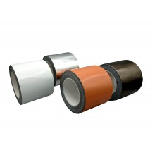 Cinta Adhesiva De Butilo Con Aluminio, Color Teja – Rollo De 10m X 100mm X 0,6mm