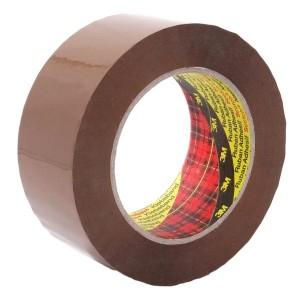 3M™ Scotch Fita de Embalagem 309, PP Baixo Ruído, Castanho – Rolo de 66m x 50mm