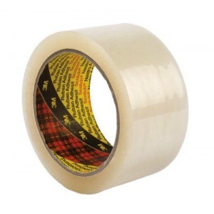 3M™ Scotch Fita de Embalagem 309, PP Baixo Ruído, Transparente – Pack de 6 Rolos de 66m x 75mm